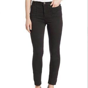 Free People Front Pocket Black Skinny Jeans